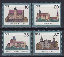 DDR East Germany 1985 ** Mi.2976/79 Burgen Castles | Hohnstein Stein Rochsburg