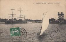 ROCHEFORT-SUR-MER 81 le bassin de commerce voilier coll giambiasi timbrée