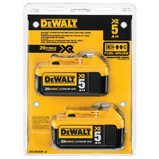 DeWalt DCB205-2 20V MAX XR 5.0Ah Lithium Ion Battery 2-Pack - ORIGINAL PACKAGING