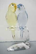 BUDGIES COLORFUL BIRDS PASTEL YELLOW LAVENDER CRYSTAL 2014 SWAROVSKI #5004725