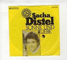 45 tours Allemagne Sacha DISTEL chante en allemand Sonne und Liebe 1976