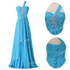 Long Formal Evening Party Beading Ball Gown Bridesmaid Pageant Wedding Dress