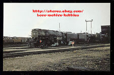 LMH Postcard  UNION PACIFIC Railroad 4-8-8-4 BIG BOY UP 3990 X3990 Cheyenne Yard