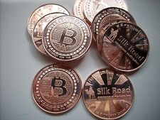 20-1 OZ COPPER COINS BITCOIN COIN *SILK ROAD* ANONYMOUS MINT COPPER COIN 1-5-100