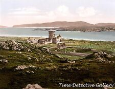 Iona Abbey, Iona, Highlands of Scotland - c1890 - Historic Photo Print