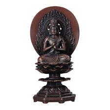 Dainichi Buddha (Dainichi-nyorai) : Japanese Bronze Statue w paulownia wood box