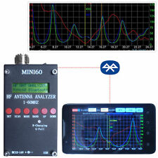 2016 Bluetooth Mini60 Sark100  HF ANT SWR Antenna Analyzer Meter +Android APP