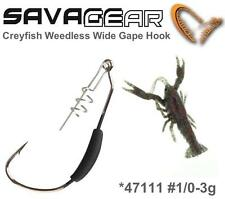 Savage Gear Crayfish Weedless Wide Gape Hook #47111 Size S 1/0 3g 4Stk. Jighaken