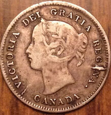 1870 CANADA SILVER 5 CENTS SUPER HEAVY DIE BREAK AND DIE CRACK !!!