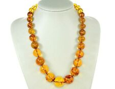 Rare German Museum Verified Genuine Amber Beads with Insects- A0372 RRP£7250!!!