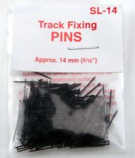 "PECO SL-14 Track Fixing Pins / Nails Blackened Metal approx 9/16"" modelrrsupply"
