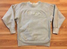 VTG Champion Reverse Weave Sweatshirt 80's Spell Out Crewneck XL Gray Silver