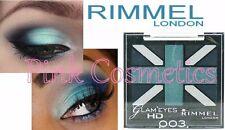 RIMMEL Glam Eyes Quad EYESHADOW Eye Shadow in 003 Royal Blue