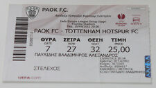 Ticket for collectors EL PAOK Thessaloniki Tottenham Hotspur Greece England