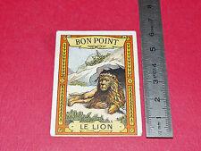 CHROMO 1910-1920 BON-POINT ECOLE IMAGE RECOMPENSE BLEDINE JACQUEMAIRE LION