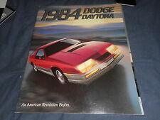 1984 Dodge Daytona Color Brochure Catalog Prospekt