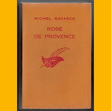 Collection Le Masque N° 933 ROSÉ DE PROVENCE Michel Bavasco 1966