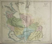 1850 LARGE HAND COLOURED MAP ~ PERSIA ~ CORASAN IRAK KERMA