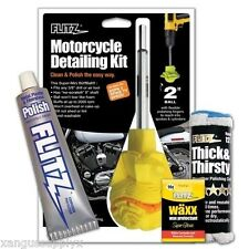 Flytz CY61501 Motorcycle Detailing Kit w/ Polish and Drill Polisher Buffer Ball