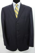 Tom James Royal Classic 3 Btn Suit Holland Sherry Navy Blue Wool 44 L x 37 W