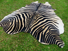 GORGEOUS NEW ZEBRA COWHIDE SKIN Rug Print Printed steer COW HIDE - DC5146 D1