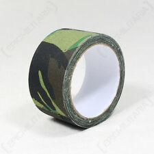 10M ADHESIVE TAPE - WOODLAND CAMO - Camouflage Wrap Hunting Shooting Airsoft