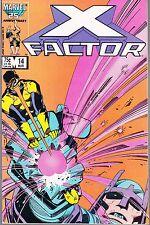X FACTOR  #14 1987 MARVEL  -CYCLOPS-VS-MASTER MOLD  STAN LEE/ ROSEN...VF-