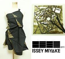 2011SS 132 5. ISSEY MIYAKE ORIGAMI Dress Asymmetrical Design Black×Gold Size 3
