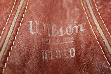 Vintage leather Wilson speed bag.  Model H1310
