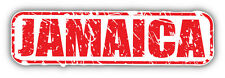 Jamaica Grunge Stamp Car Bumper Sticker Decal 6'' x 2''