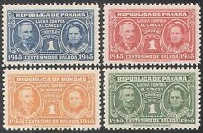 Panama 1945 Cancer/Medical/Health/Welfare/Marie Curie/Science 4v set (n28425)