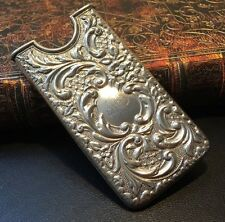 Antique Sterling Silver Calling Card Case