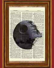Death Star Star Wars Dictionary Art Print Book Page Picture Collectible Poster