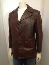 1960s Vintage Hipster Men's Italian Leather Jacket Size 40
