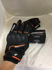 JOE ROCKET MENS SUPER MOTO TOUCH RACING GLOVES BLACK ORANGE SIZE XXL 2X REAL PIC