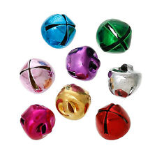 15 Shiny Painted Copper Jingle Bells 8mm Assorted Colours, Decoration, Crafts