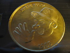 saints *who dat hat* where y'at 1985 doubloon mardi gra new orleans coin vintage