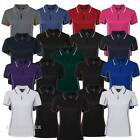 Ladies Piping Polo Shirt Sports Quick Dry Top Size 8-24 Team Club Contrast 7LPI