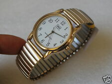Nice Q&Q by Citizen Gold Tone Men's Watch w/Expansion Band