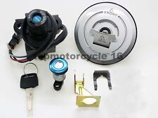 Ignition Switch Lock Seat Lock Fuel Gas Cap Cover Key Set fits Honda MC33 98-07