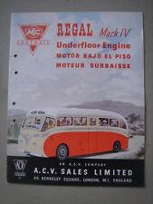 AEC  Regal Mark IV with underfloor engine Prestige catalogue/Luxusprospekt 1950.