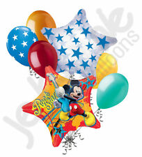 7 pc Mickey Mouse Rock Star Balloon Bouquet Party Decoration Disney Birthday