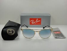 RAY-BAN SIGNET SUNGLASSES RB3429M 001/3F GOLD/LIGHT BLUE GRADIENT LENS 55MM