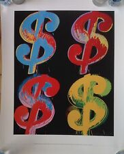 Andy Warhol 4$ Signs Giclee from 1982 Silkscreen Signed/Numbered in Plate Fine