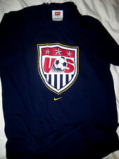 US WORLD CUP SOCCER OLYMPIC SHIELD LOGO USA BACK NIKE COTTON JERSEY T SHIRT-S