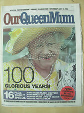 VINTAGE NEWSPAPER SHEFFIELD STAR JULY 19th 2000 OUR QUEEN MUM 100 GLORIOUS YEARS