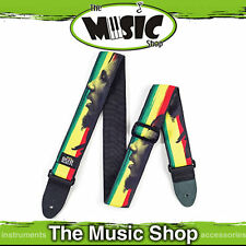 "New Jim Dunlop Bob Marley ""Proflile"" Adjustable 2"" Guitar Strap - D46A"