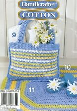 Crochet PATTERNS Kitchen Items Daisy Tote Bag Apron Towel Toppers Rug