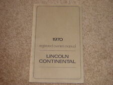 1970 Lincoln Continental Factory Original Owners Manual Printed July 1969 1st Ed