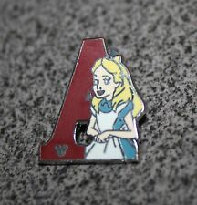 DISNEY PIN ALICE IN WONDERLAND ALPHABET LETTER COLLECTION A FOR ALICE 2011 HIDDE